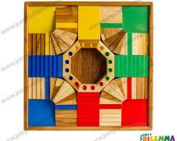 Parques 3D de 4 puestos en madera teca