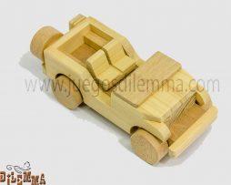 jeep en madera