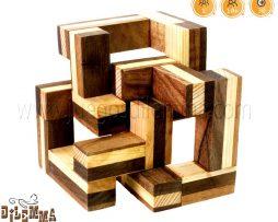 rompecabezas cubo de 3 piezas