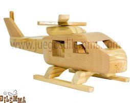 helicoptero en madera