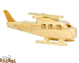 helicóptero en madera pequeño