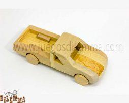 camioneta pickup en madera