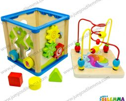 caja multifuncional con laberinto